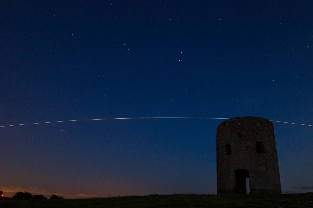 ISS over the tower